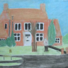 handside Lane, Drawing by Charlotte | Handside School Consortium Project