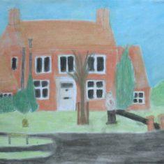 handside Lane, Drawing by Charlotte | Handside School Consortium Project