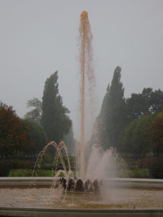 The Coronation Fountain with pink water | Robert Gill