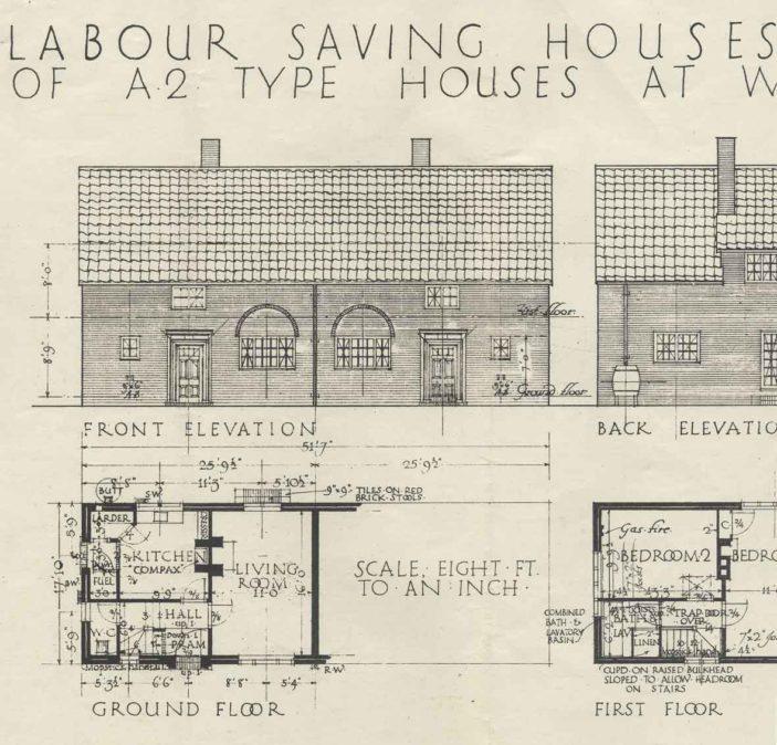 Quadrangle housing plan   Welwyn Garden City Library