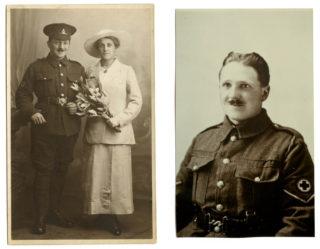 Appendix B wedding of APB and Dorothy + APB in RAMC uniform
