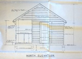 Refreshment Shed side elevation UDC21/77/211 1933 | Hertfordshire Archives and Local Studies