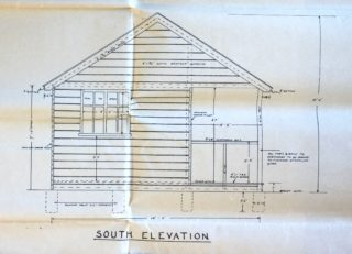 Refreshment Shed side elevation UDC21/77/211 | Hertfordshire Archives and Local Studies