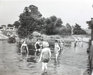 Bathing in River Lea, pre swimming pool | Hertfordshire Archives and Local Studies