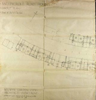 Road layout detail Barleycroft Road (UDC21/77/159) | Hertfordshire Archives andLocal Studies