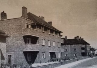 107 Heronswood Road (top left flat) from the back, 1956.