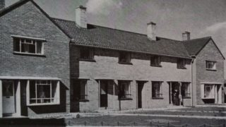 13 Heronswood Place (2nd door from the left) pictured in 1940.