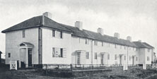 My sister Mary's house at 6 Beehive Lane (furthest from camera), 1952.