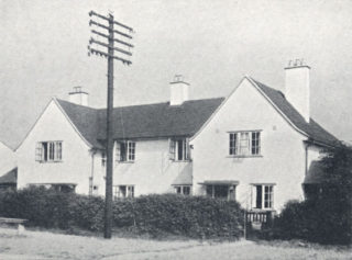 My first house, 4 Two Acres (home on the right), in 1957.