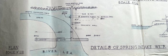 Details of spring intake weir UDC21/77/210 1933 | Hertfordshire Archives and Local Studies
