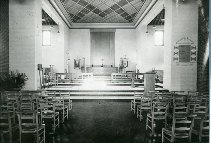 Interior of St Francis Church, Welwyn Garden City | Hertfordshire Archives and Local Studies