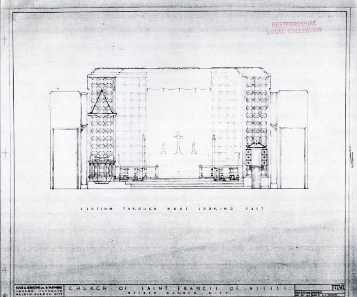 Plan of the main alter | Hertfordshire Archives and Local Studies (pamphlet files)