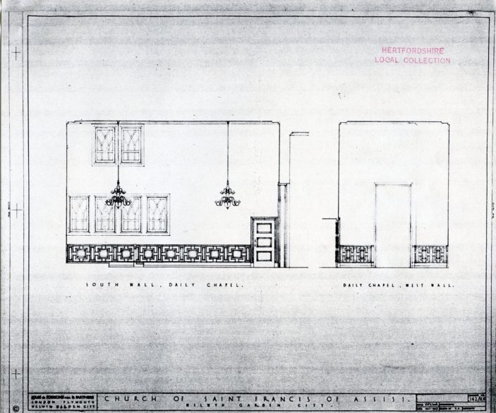 Plan of South Chapel | Hertfordshire Archives and Local Studies (pamphlet files)