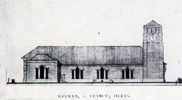 St Francis Church, Welwyn Garden City, 1929 | Hertfordshire Archives and Local Studies, pamphlet files