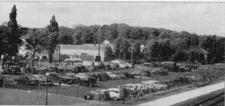1956 - The car park by the railway on Stonehills, and behind it was Munts (the cycle shop).  .