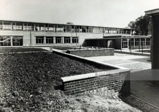 Looking towards the Business and Admin subject classrooms   -  1964
