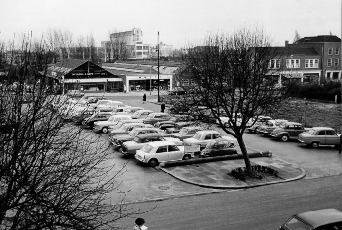 Town Centre Stores small car park 1964 | Welwyn Garden City Library