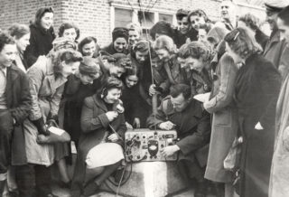 Troops visiting Murphy radio | Hertfordshire Archives and Local Studies