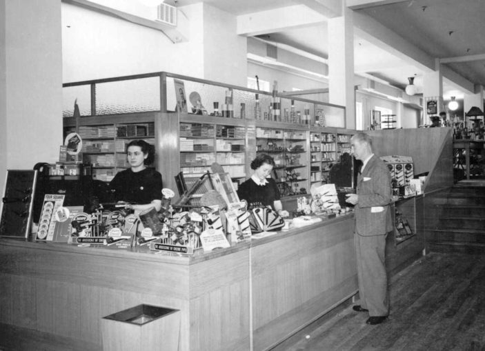 The cigarette counter at Welwyn Stores