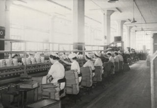 Shredded Wheat packing line 1930s | Hertfordshire Archives and Local Studies