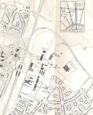 A map of the Factory Area c1935 | Welwyn Garden City Library