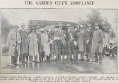 Welwyn Garden City's first ambulance
