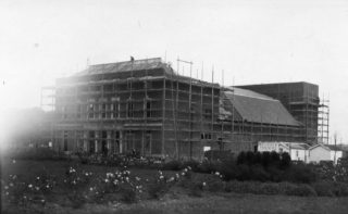 Welwyn Theatre under construction | Hertfordshire Archives and Local Studies