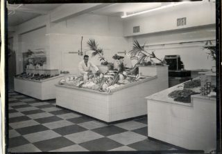 Fish counter of Welwyn Stores, July 1939 | Welwyn Garden City Library