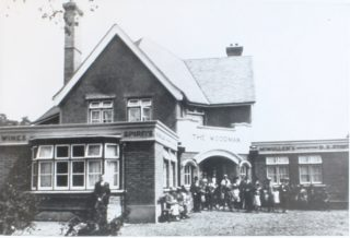 The Woodman Public House possibly c1927 when the rebuilt pub opened | Hertfordshire Archives and Local Studies