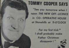 Tommy Cooper comes to town