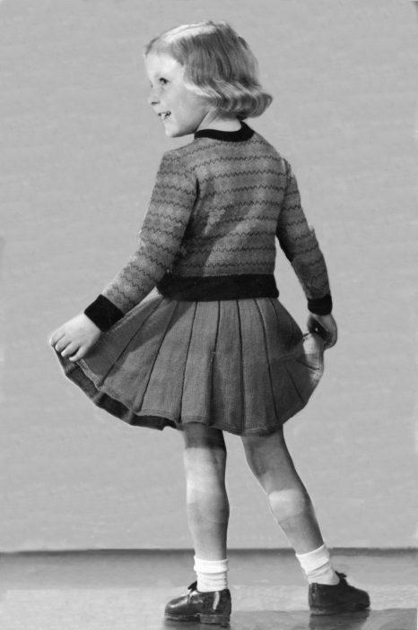 modelling knit wear.