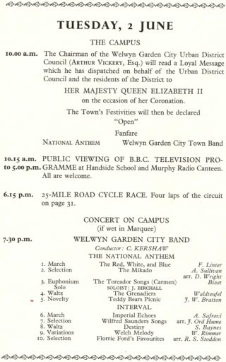 From a pamphlet published in 1953 | Welwyn Garden City Library
