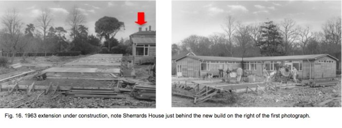 Extension under construction 1963 | Fig.16.