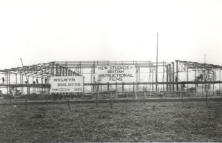 The Welwyn Film Studios being built | Hertfordshire Archives and Local Studies