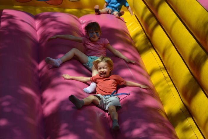 Fun on the inflatable slide | Robert Gill