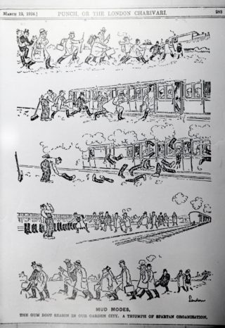 Punch Cartoon 'Mud Modes'   Hertfordshire Archives and Local Studies