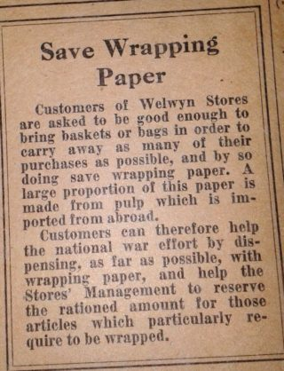 Wrapping paper shortage | Hertfordshire Archives and Local Studies