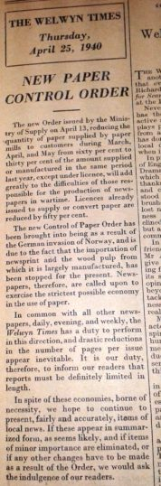 Reduced newspaper pages | Hertfordshire Archives and Local Studies