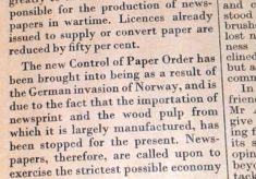 Paper Rationing
