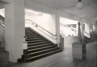 Main staircase Welwyn Sores, 1939 | Welwyn Garden City Library