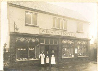 The outside of Welwyn Stores | Jean Pestle nee Bray